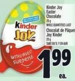 Kinder Joy Easter Chocolate
