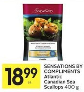 Sensations By Compliments Atlantic Canadian Sea Scallops 400 g