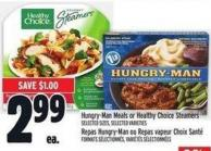 Hungry-man Meals Or Healthy Choice Steamers