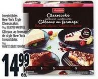 Irresistibles New York Style Cheesecakes 1 Kg