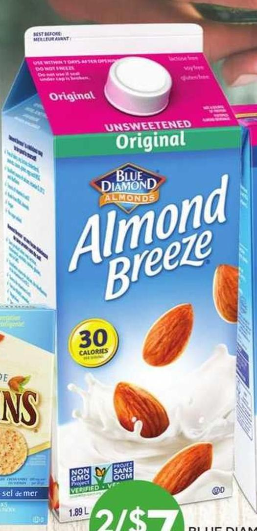 Blue Diamond Almond Breeze Beverages