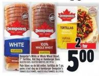 Dempster's White Or Whole Wheat Bread - 7in Tortillas - Hot Dog Or Hamburger Buns
