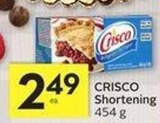 Crisco Shortening - 25 Air Miles Bonus Miles