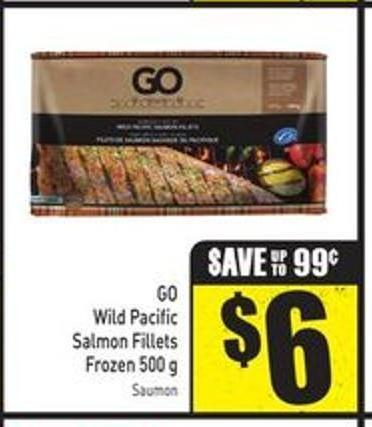 Go Wild Pacific Salmon Fillets Frozen 500 g