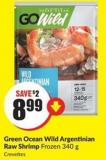 Green Ocean Wild Argentinian Raw Shrimp Frozen 340 g