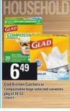 Glad Kitchen Catchers Or Compostable Bags - Pkg of 10-52