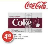Diet Coke Slim Cans 8 X 310ml