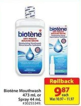 Biotene Mouthwash 473 mL or Spray 44 mL