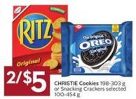 Christie Cookies 198-303 g or Snacking Crackers Selected 100-454 g