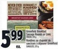 Greenfield Breakfast Sausage Rounds Or Links