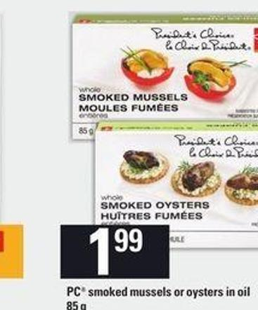 PC Smoked Mussels Or Oysters In Oil - 85 G