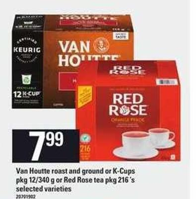 Van Houtte Roast And Ground Or K-cups Pkg - 12/340 G Or Red Rose Tea Pkg - 216 'S
