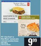 PC - Free From Or Blue Menu Savoury Pies - 800-900 g