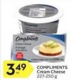 Compliments Cream Cheese 227 - 250 g