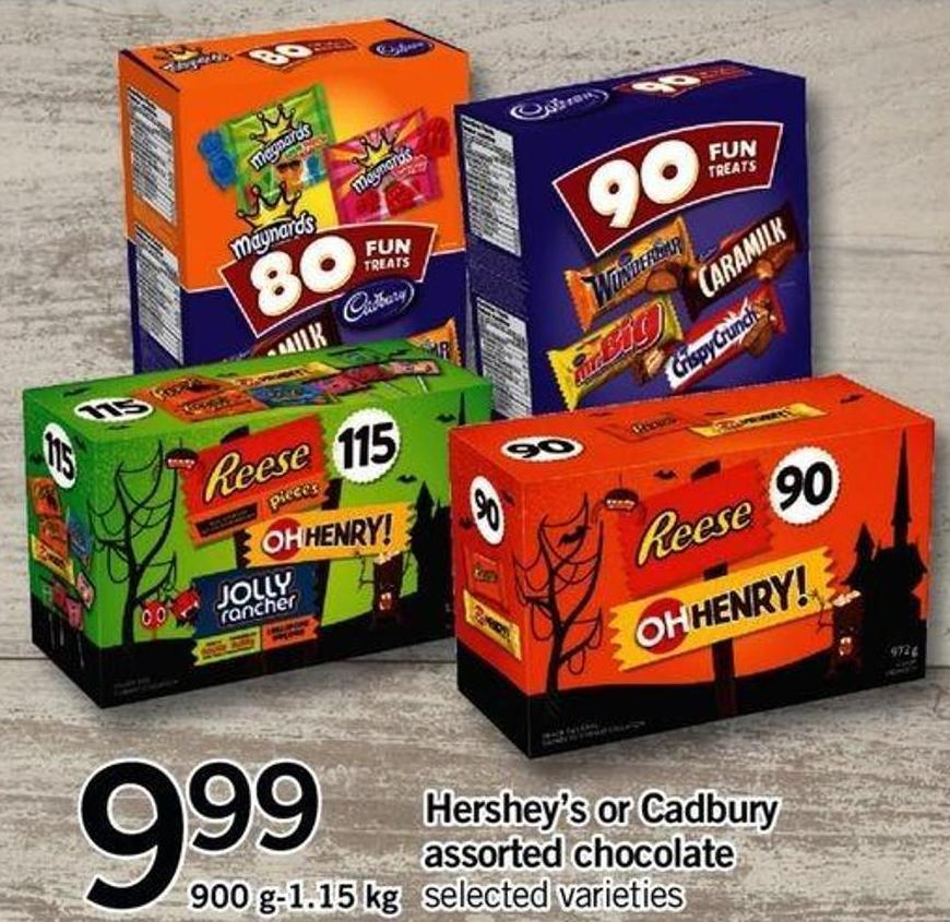 Hershey's Or Cadbury Assorted Chocolate - 900 G-1.15 Kg