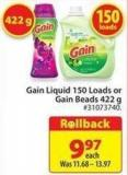 Gain Liquid 150 Loads or Gain Beads 422 g