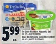 Tre Stelle Ricotta Or Mozzarella Ball 340 - 475 g