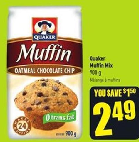 Quaker Muffin Mix 900 g