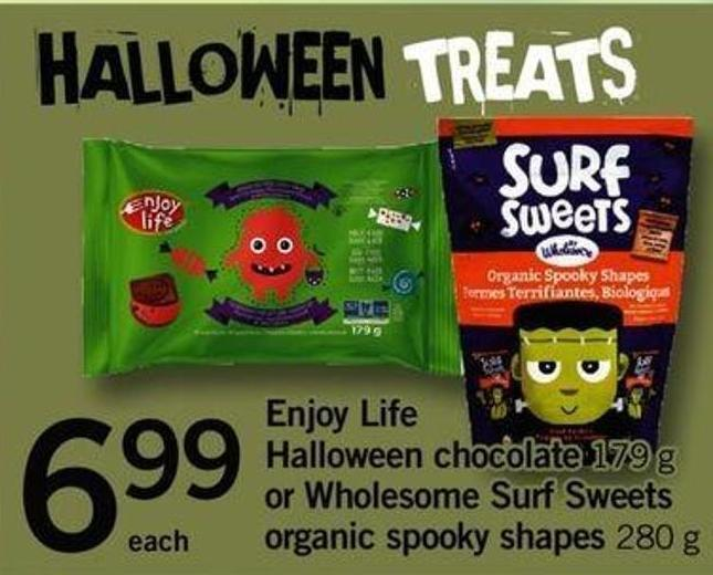 Enjoy Life Halloween Chocolate 179 - G Or Wholesome Surf Sweets Organic Spooky Shapes - 280 G