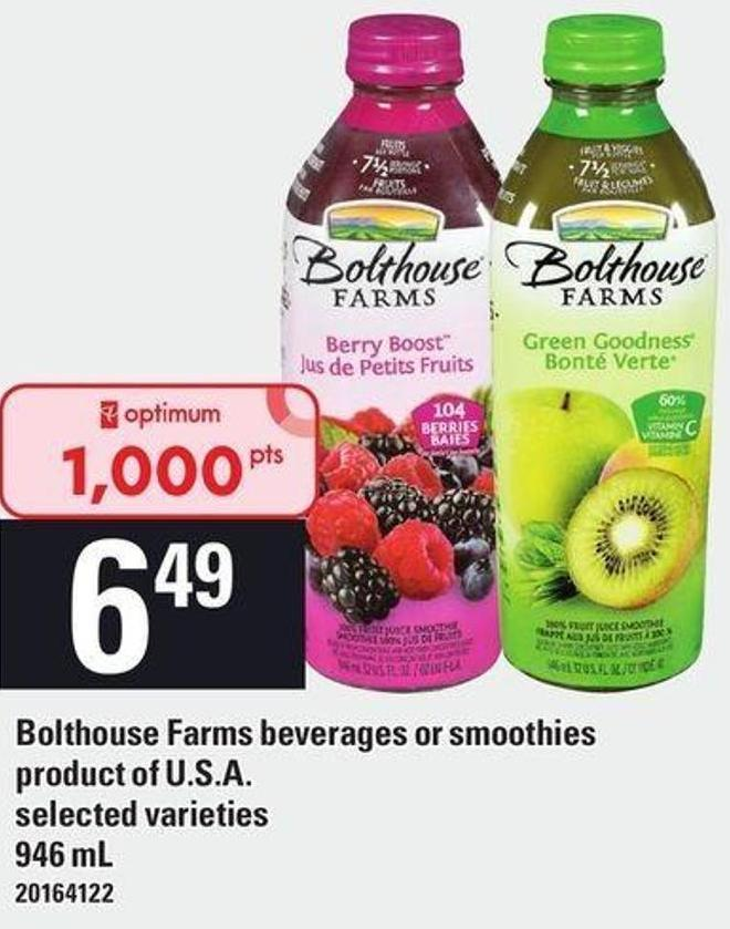 Bolthouse Farms Beverages Or Smoothies - 946 mL