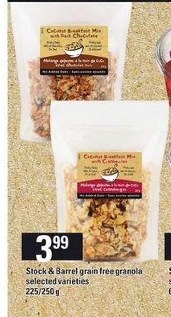 Stock & Barrel Grain Free Granola - 225/250 g