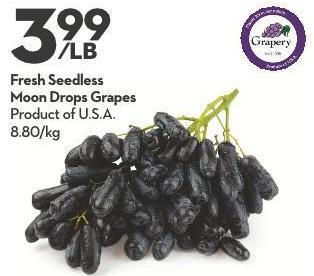 Fresh Seedless Moon Drops Grapes