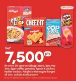 Kellogg's Cereal - Bars - Pop Tarts - Eggo Waffles - Pancakes - Special K Crackers - Keebler Crackers - Pringles Or Morningstar Burgers