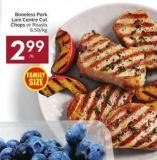 Boneless Pork Loin Centre Cut Chops or Roasts