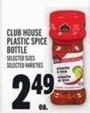 Club House Plastic Spice Bottle