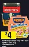 Hereford Corned Beef - 340 G Or Rio Mare Light Tuna Salad - 160 G