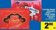 Carnaby Sweet Chocolate Heart - 175 g Or Lindt Lindor Chocolate Heart - 3's
