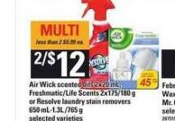 Air Wick Scented Oils - 2x20 Ml - Freshmatic/life Scents - 2x175/180 G Or Resolve Laundry Stain Removers - 650 Ml-1.3l /765 G
