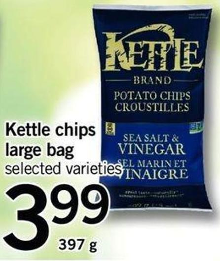 Kettle Chips Large Bag - 397 G