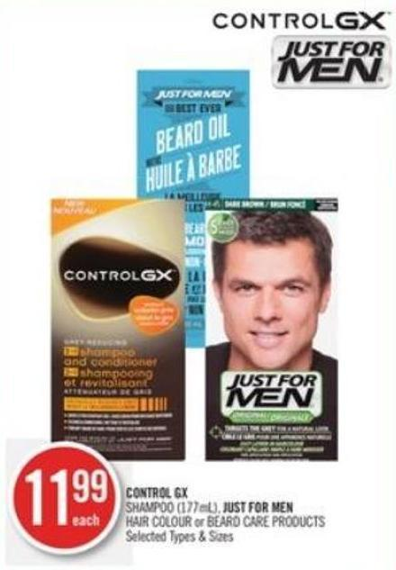Control Gx Shampoo (177ml) - Just For Men Hair Colour or Beard Care Products