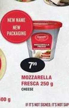 Mozzarella Fresca Cheese
