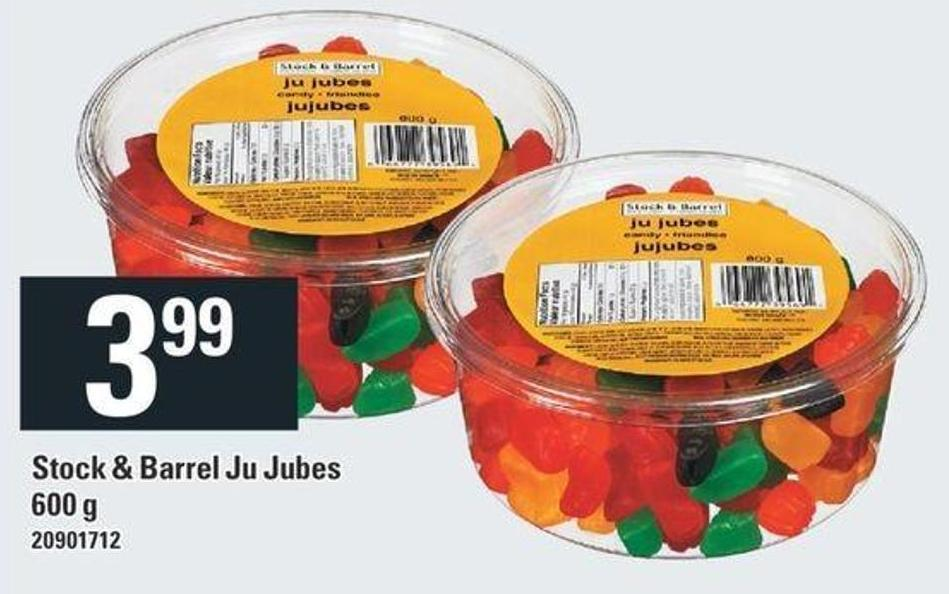 Stock & Barrel Ju Jubes - 600 g