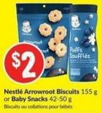 Nestlé Arrowroot Biscuits 155 g or Baby Snacks 42-50 g