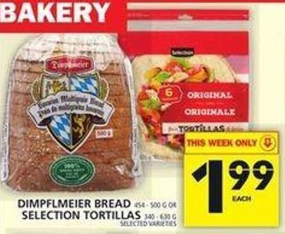 Dimpflmeier Bread Or Selection Tortillas