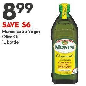 Monini Extra Virgin  Olive Oil 1l Bottle