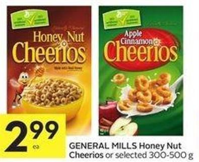 General Mills Honey Nut Cheerios or Selected 300-500 g