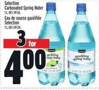 Selection Carbonated Spring Water