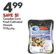 Canadian Cove Fresh Cultivated  Mussels 908g