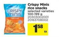 Crispy Minis Rice Snacks.100-199 g