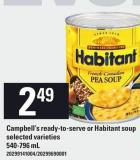 Campbell's Ready-to-serve Or Habitant Soup - 540-796 mL