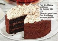 Front Street Bakery Irish Cream Hot Chocolate Cake