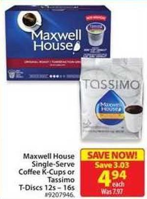 Tassimo Maxwell House Blend T-discs Coffee