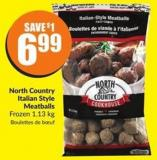 North Country Italian Style Meatballs Frozen 1.13 Kg