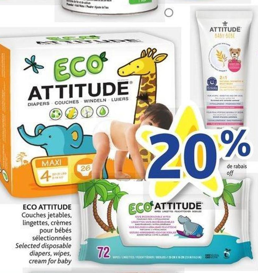 Eco Attitude Couches Jetables - on sale | Salewhale.ca