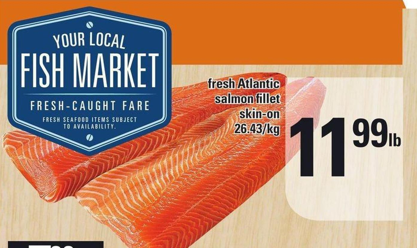 Fresh Atlantic Salmon Fillet$11.99 Lb