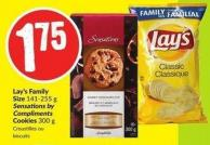 Lay's Family Size 141-255 g Sensations By Compliments Cookies 300 g